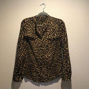 Ann Taylor sheer leopard print top